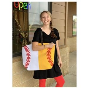 Handbags - Large Sports Tote - Softball/Baseball